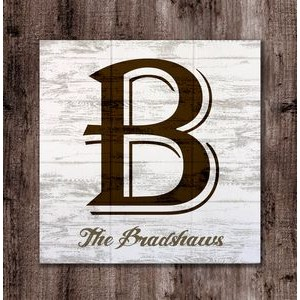 "Personalized Monogram wood sign. 12""x12"""